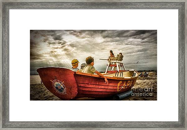 Boys Of Summer Cape May New Jersey Framed Print