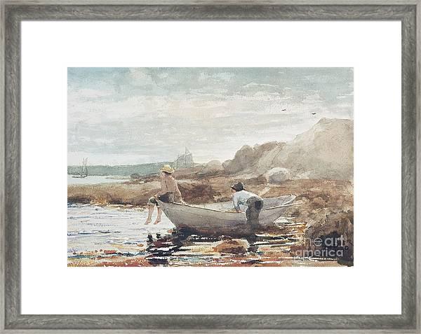 Boys On The Beach Framed Print