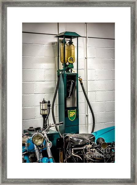 Bp Gas Pump Framed Print
