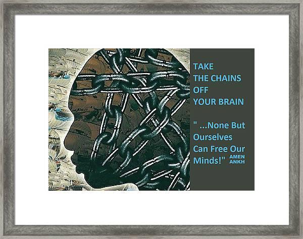 Brain Chains Framed Print