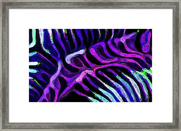 Brain Coral Abstract 2 In Purple Framed Print