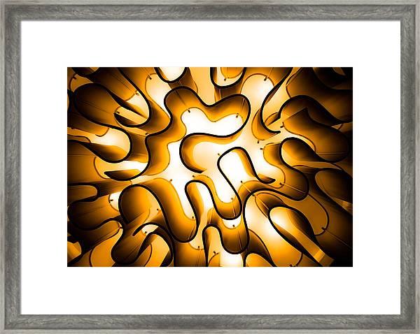 Brain Lighting Framed Print