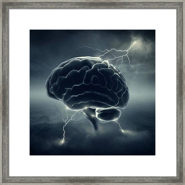 Brainstorm Framed Print