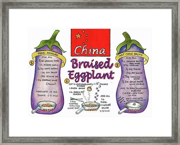 Braised Eggplant Framed Print