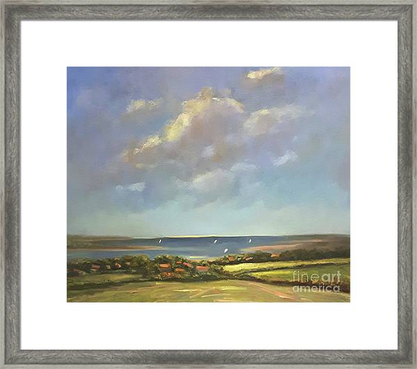 Framed Print featuring the painting Brancaster Staithes, Norfolk by Genevieve Brown
