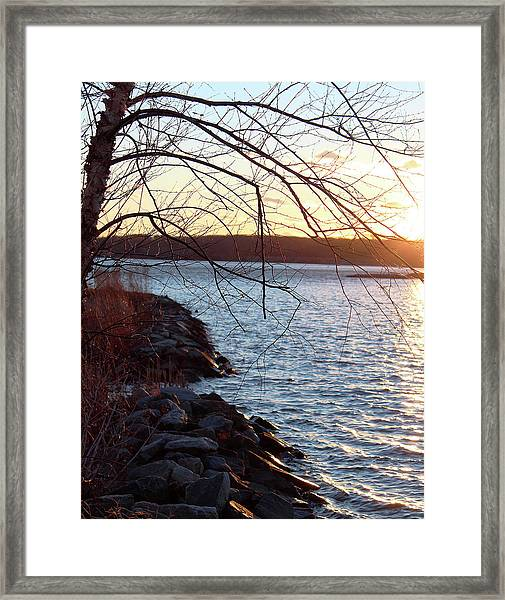 Late-summer Riverbank Framed Print
