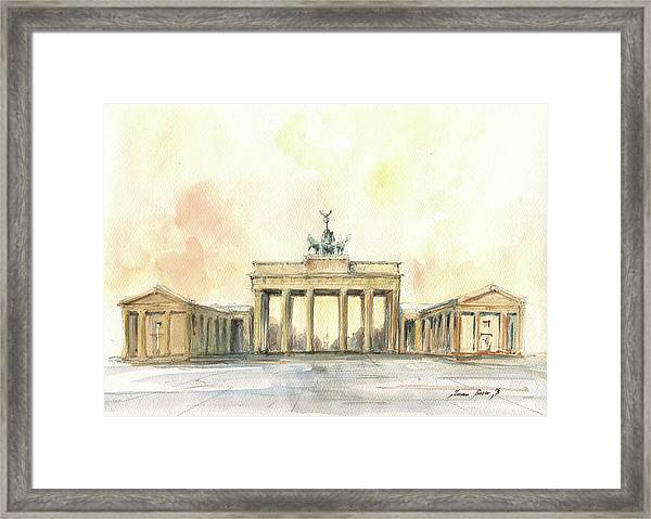 Brandenburger Tor, Berlin Framed Print