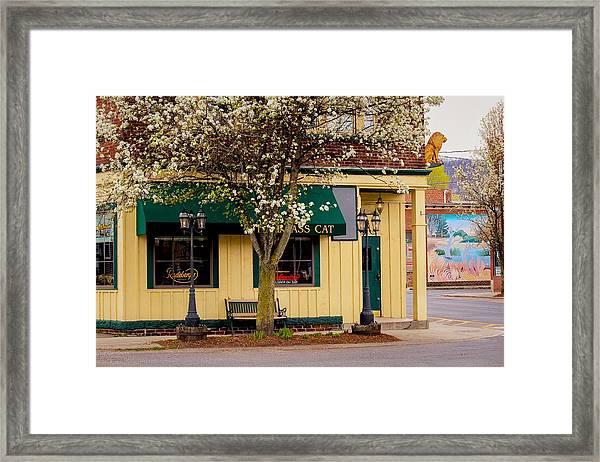 Brass Cat Pub Easthampton Framed Print