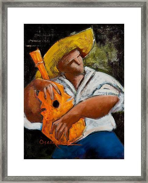 Framed Print featuring the painting Bravado Alla Prima by Oscar Ortiz