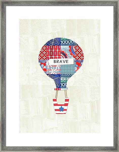 Brave Balloon- Art By Linda Woods Framed Print