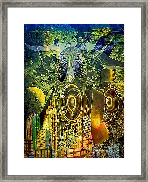 Framed Print featuring the digital art Brave New World by Eleni Mac Synodinos