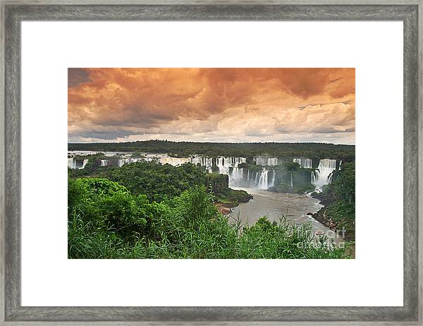 Framed Print featuring the photograph Brazil,iguazu Falls,spectacular View by Juergen Held