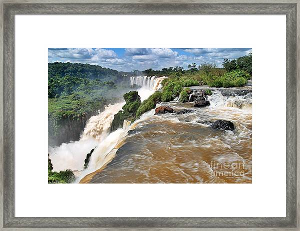 Framed Print featuring the photograph Brazil,iguazu Falls, by Juergen Held