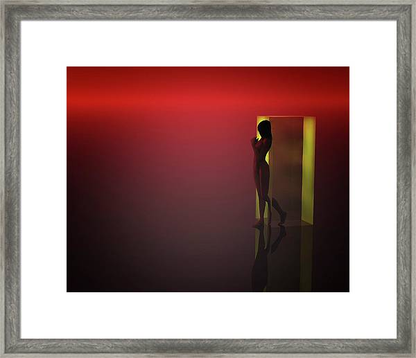 Framed Print featuring the mixed media Break Out Your Closeness by Jan Keteleer