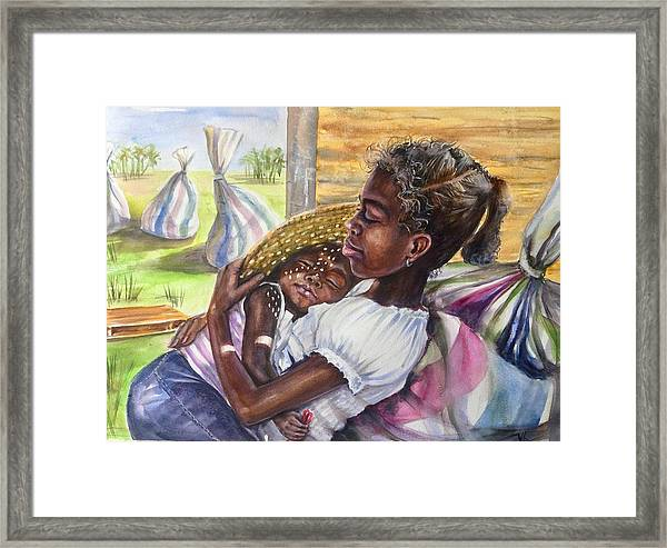 Framed Print featuring the painting Break Time by Katerina Kovatcheva