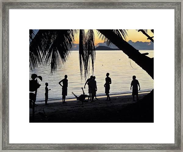 Breakdance At Sunset Framed Print