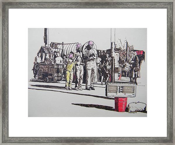 Breakdance San Francisco Framed Print