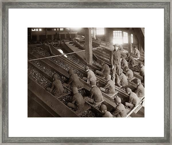 Breaker Boys Lehigh Valley Coal Co Maltby Pa Near Swoyersville Pa Early 1900s Framed Print