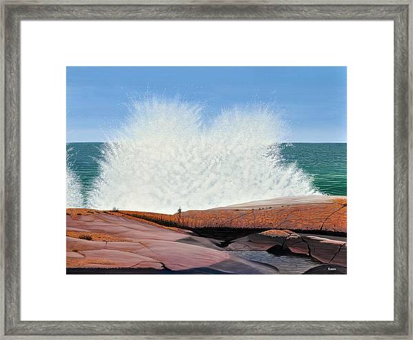 Breakers On Georgian Bay Framed Print