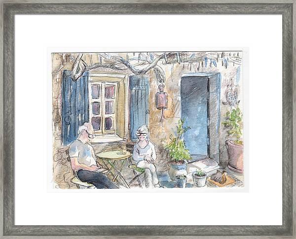 Breakfast Al Fresco Framed Print