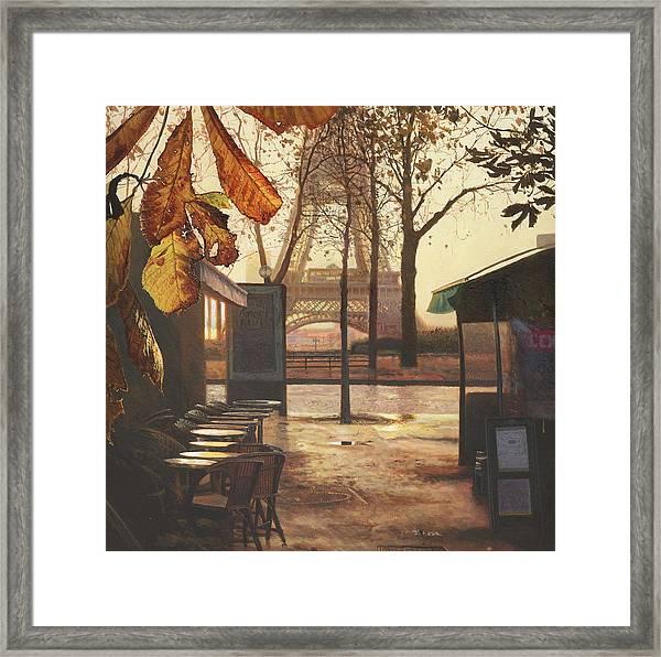Breakfast In Paris Framed Print