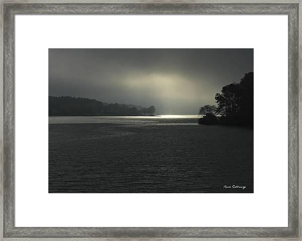 Breaking Out Sunrise Lake Oconee Georgia Framed Print