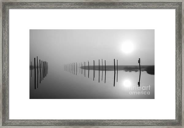 Breaking Through The Fog Framed Print