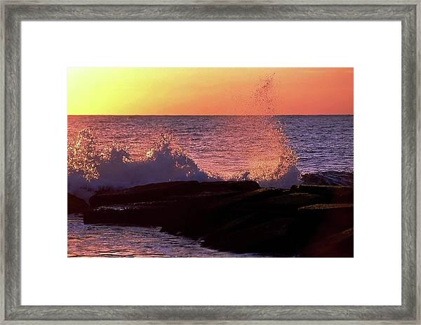 Breaking Wave At Dawn Framed Print