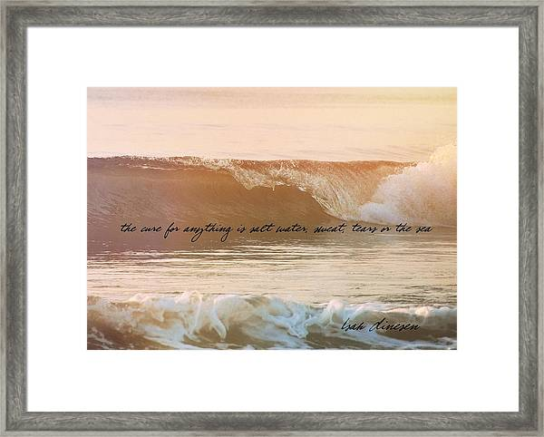 Breaking Wave Quote Framed Print