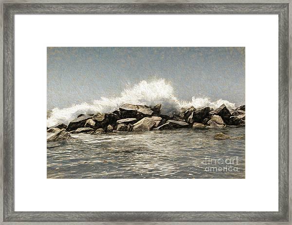 Breakwater 2 Framed Print