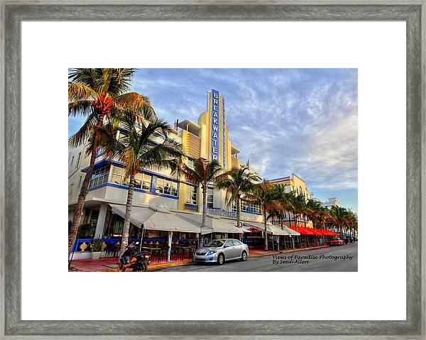 Breakwater Hotel Framed Print