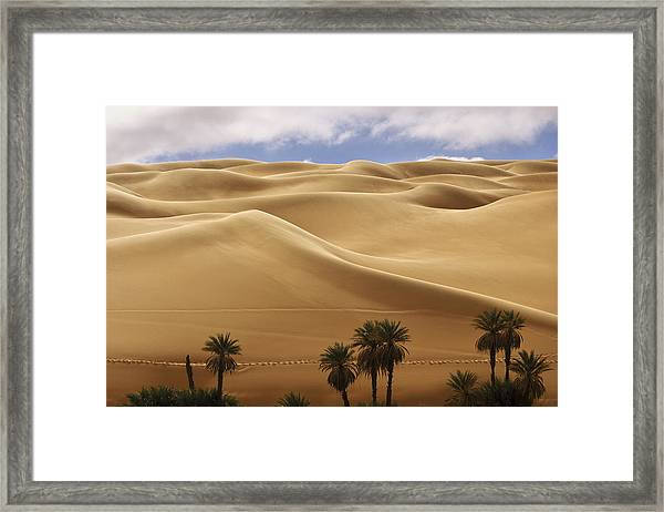 Breathtaking Sand Dunes Framed Print