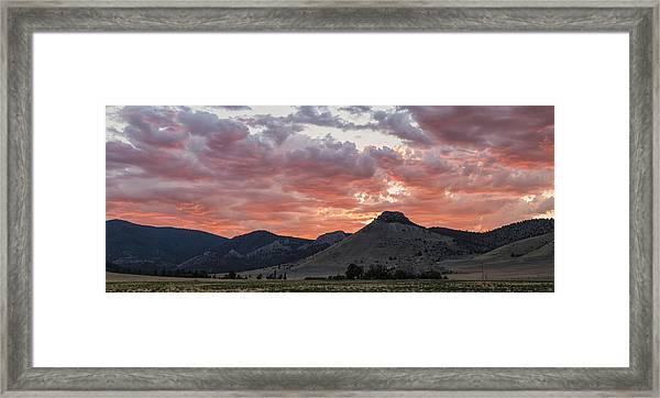 Breathtaking Sunset Framed Print
