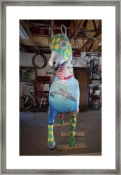 Breeders Cup Fiberglass Horse Front Framed Print