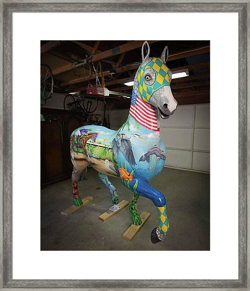 Breeders Cup Fiberglass Horsefront Right Framed Print
