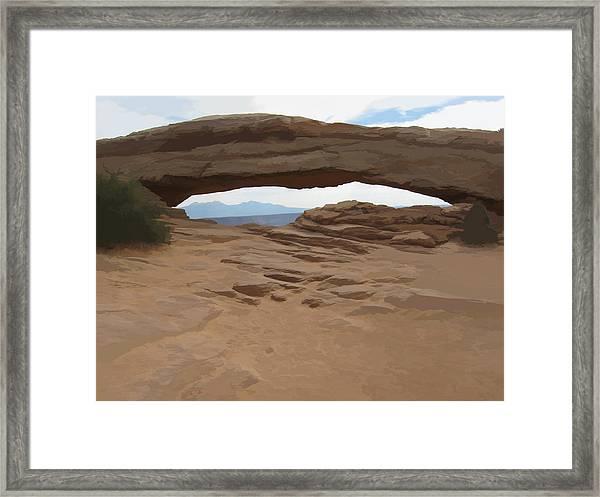 Breezy Bridge Framed Print