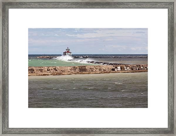 Breitbeck Park, Overlooking Oswego Harbor Framed Print