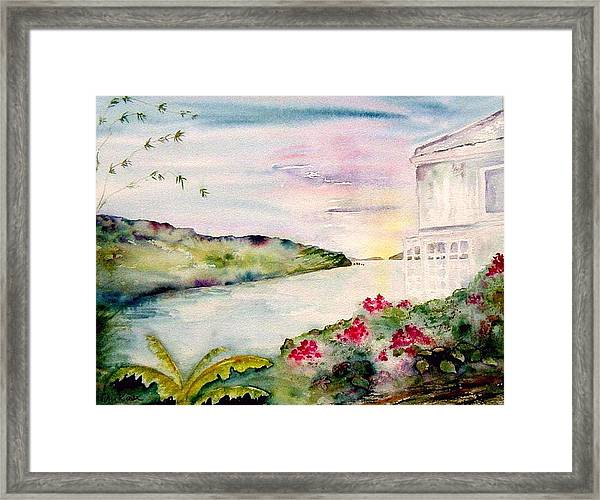 Brewers Bay Sunset Framed Print