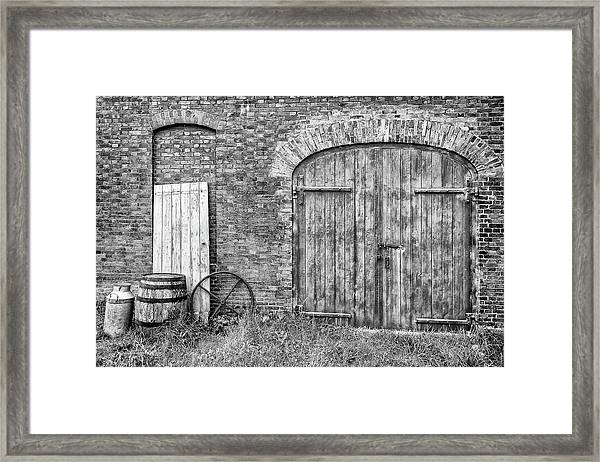 Framed Print featuring the photograph Brewhouse Door by Nick Bywater
