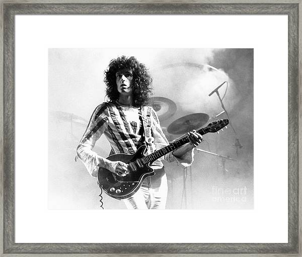 Brian May Of Queen 1975 Framed Print