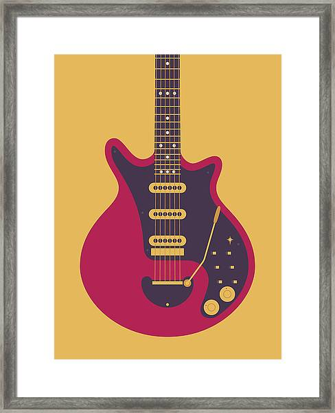 Red Special Guitar - Gold Framed Print