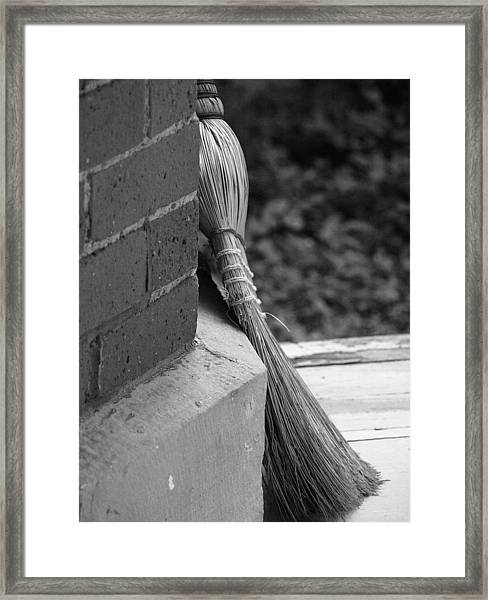 Brick And Broom Framed Print