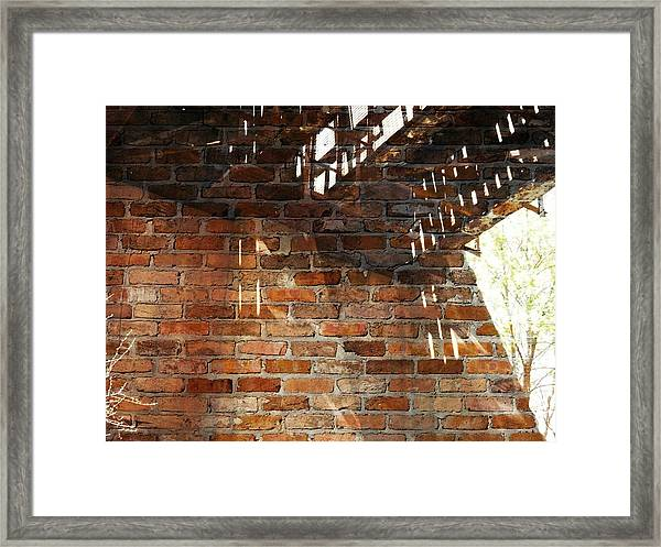 Brick And Rust Framed Print