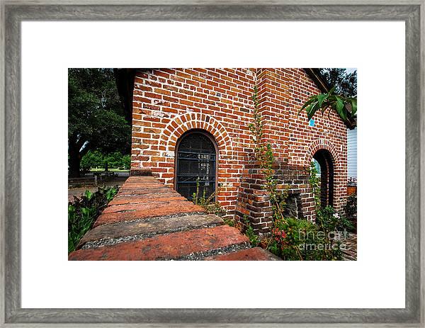 Brick Courtyard Framed Print