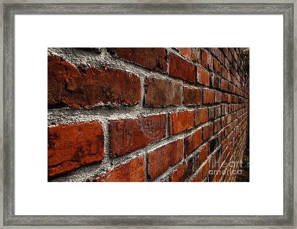 Brick Wall With Perspective Framed Print