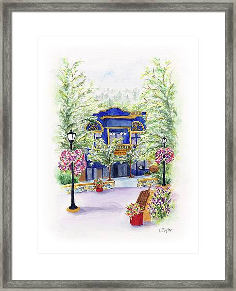 Brickroom On The Plaza Framed Print