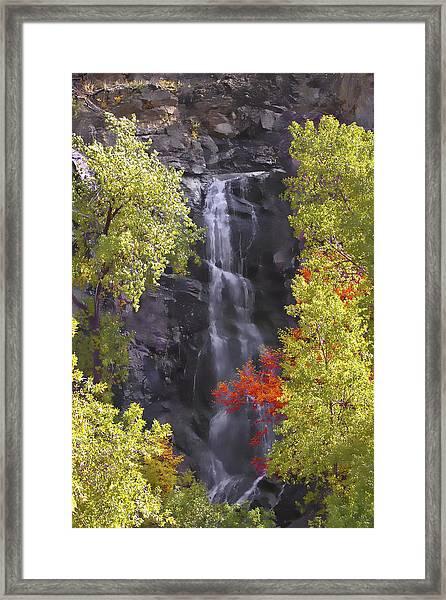 Bridal Veil Falls Black Hills Framed Print