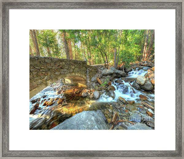 Bridalveil Creek At Yosemite By Michael Tidwell Framed Print