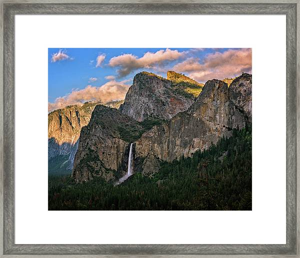 Bridalveil Falls From Tunnel View Framed Print