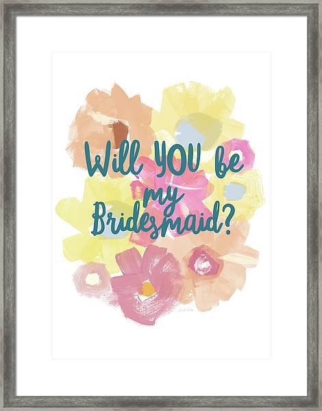 Bridesmaid Floral- Art By Linda Woods Framed Print